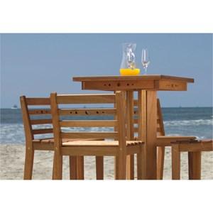 Conjunto de Mesa de Bar com 4 Banquetas Altas em Madeira Jatobá - Mão & Formão