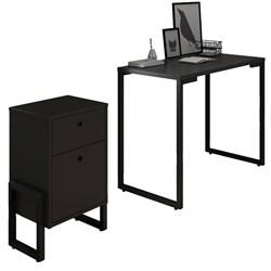 Conjunto Escritório Mesa Escrivaninha 90cm e Gaveteiro 2 Gavetas New P
