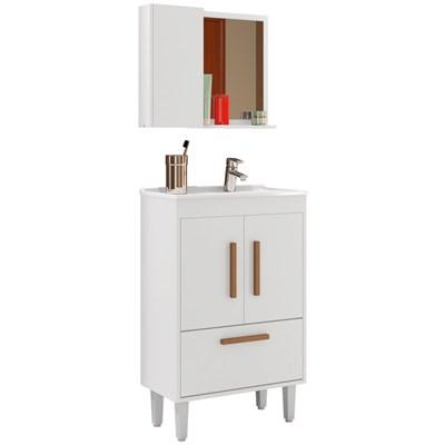 Conjunto Gabinete e Espelheira Toronto Branco - Bechara