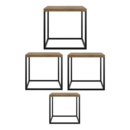 Conjunto Mesas de Centro Cube Vermont - Artesano