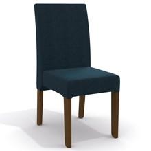 Conjunto Sala de Jantar Mesa Camomila e 4 Cadeiras Walnut/Carvão/Marinho - Kappesberg
