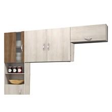 Cozinha Compacta 03 Peças 05 Portas Talita Naturaly/Terraro - MoveMax