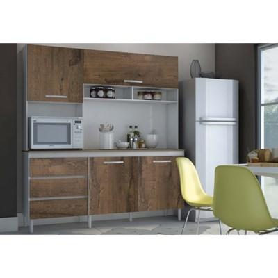 Cozinha Compacta 04 Portas Florença I03 Branco/Malbec - MPdecor