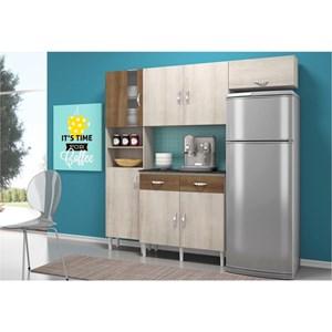 Cozinha Compacta com Balcão 02 Portas Talita Naturaly/Terraro - MoveMax