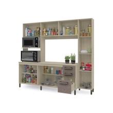 Cozinha Compacta E780 Nature/Branco - Kappesberg