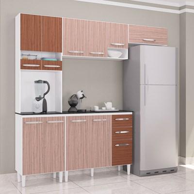 Cozinha Modulada 02 Peças Isadora Amêndoa/Capuccino - Poquema