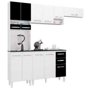 Cozinha Modulada 02 Peças Isadora Branco/Preto - Poquema