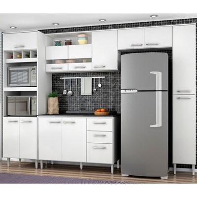 Cozinha Modulada 06 Módulos Bruna Branco - Poquema