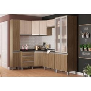 Cozinha Modulada 11 Peças CP05 Integra Rústico/Creme - Henn