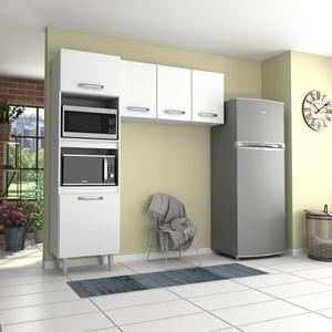 Cozinha Modulada 2 Módulos Composição 6 Branco - Lumil
