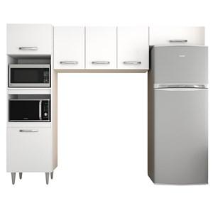 Cozinha Modulada 3 Módulos Composição 7 Branco - Lumil