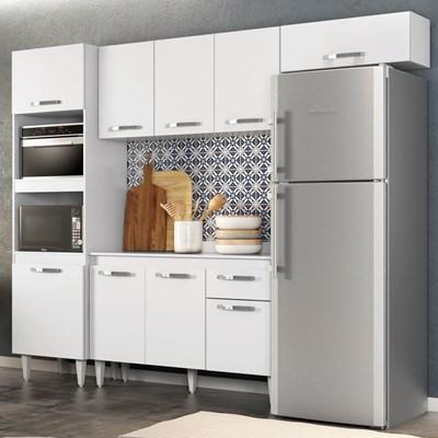 Cozinha Modulada 4 Módulos Composição 2 Branco - Lumil Móveis