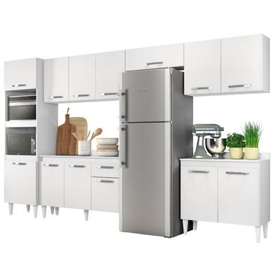 Cozinha Modulada 6 Módulos Composição 1 Branco - Lumil Móveis
