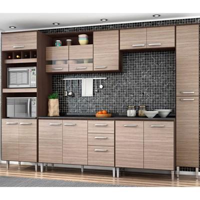 Cozinha Modulada 7 Peças Bruna Capuccino/Amêndoa - Poquema