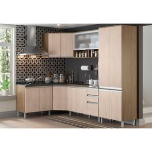 Cozinha Modulada 8 Peças CP03 Integra Rústico/Creme - Henn