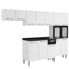 Cozinha Modulada Evidence Aço 4 Módulos Composição 43 Branco/Preto - Bertolini