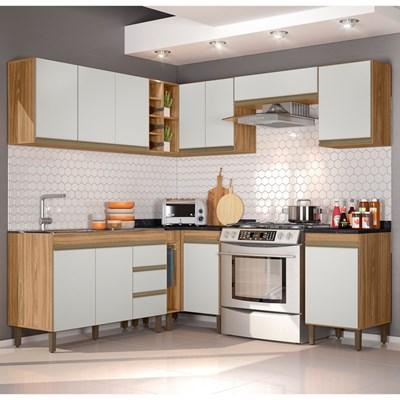 Cozinha Modulada Karen 10 Módulos 5600 P14 Nature/Off White - Mpozenato