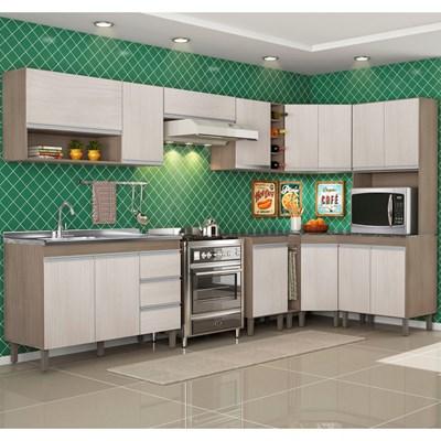 Cozinha Modulada Karen 10 Módulos 7600 P14 Malbec/Avelã - MPdecor