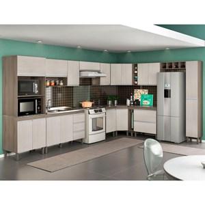 Cozinha Modulada Karen 14 Módulos 7550 Malbec/Avelã - MPdecor