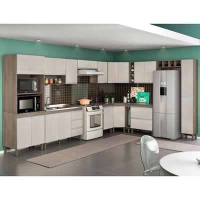 Cozinha Modulada Karen 14 Módulos 7550 P14 Malbec/Avelã - MPdecor