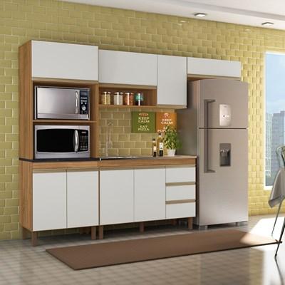 Cozinha Modulada Karen 4 Módulos 5550 P14 Nature/Off White - Mpozenato