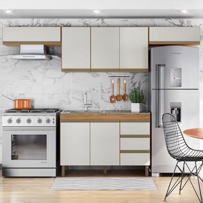 Cozinha Modulada Karen 4 Módulos 5700 P14 Nature/Off White - Mpozenato