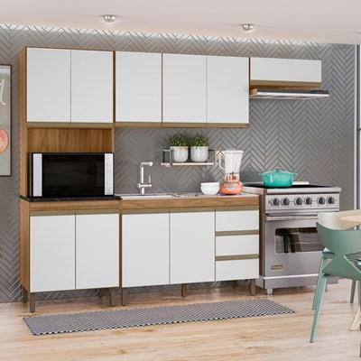 Cozinha Modulada Karen 4 Módulos 7400 P14 Nature/Off White - Mpozenato