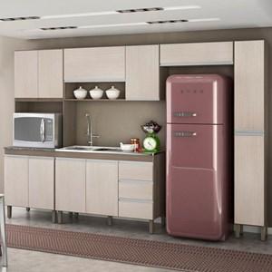 Cozinha Modulada Karen 5 Módulos 7500 Malbec/Avelã - MPdecor