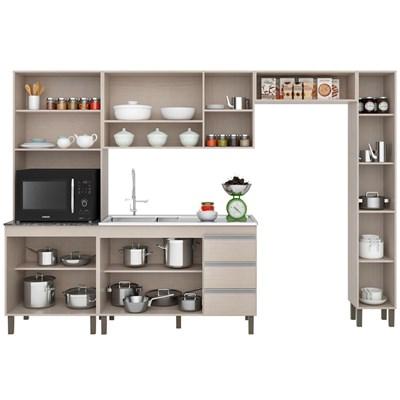 Cozinha Modulada Karen 5 Módulos 7500 P14 Malbec/Avelã - MPdecor