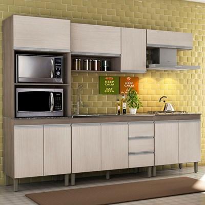 Cozinha Modulada Karen 5 Módulos 7650 P14 Malbec/Avelã - MPdecor