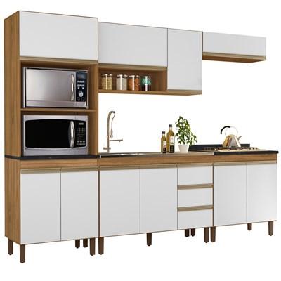 Cozinha Modulada Karen 5 Módulos 7650 P14 Nature/Off White - Mpozenato