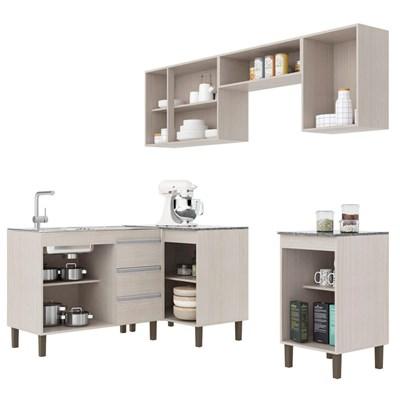 Cozinha Modulada Karen 6 Módulos 7750 P14 Malbec/Avelã - MPdecor