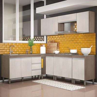 Cozinha Modulada Karen 8 Módulos 7700 P14 Malbec/Avelã - MPdecor