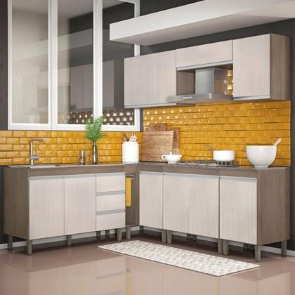Cozinha Modulada Karen 8 Módulos 7700 P14 Malbec/Avelã - Mpozenato