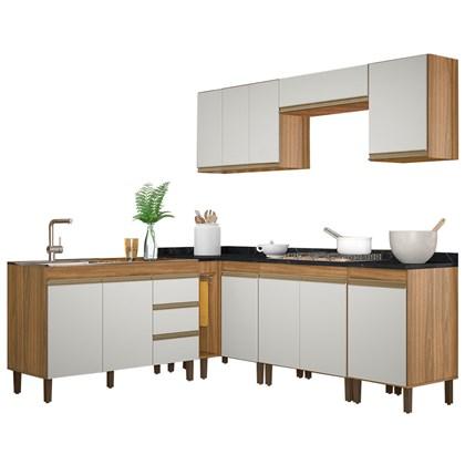 Cozinha Modulada Karen 8 Módulos 7700 P14 Nature/Off White - Mpozenato