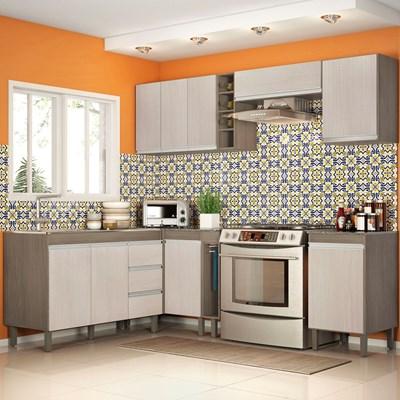 Cozinha Modulada Karen 8 Módulos 7800 P14 Malbec/Avelã - Mpozenato