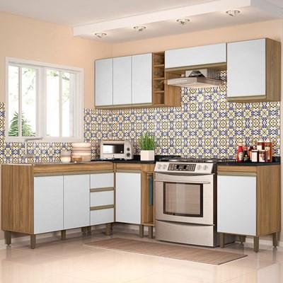 Cozinha Modulada Karen 8 Módulos 7800 P14 Nature/Off White - Mpozenato