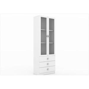 Cristaleira com 02 Portas de Vidro ME4114 Branco – Tecno Mobili