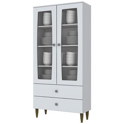 Cristaleira Para Sala De Jantar 02 Portas Liz Branco HP - Henn