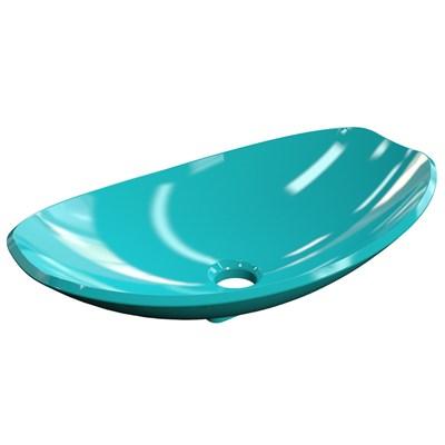 Cuba Pia de Apoio para Banheiro Canoa Luxo 45 C08 Azul Turquesa - Mpozenato