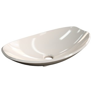 Cuba Pia de Apoio para Banheiro Canoa Luxo 45 C08 Bege - Mpozenato