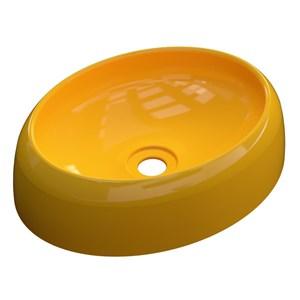 Cuba Pia de Apoio para Banheiro Oval Capri OV39W C08 Amarelo - Mpozenato