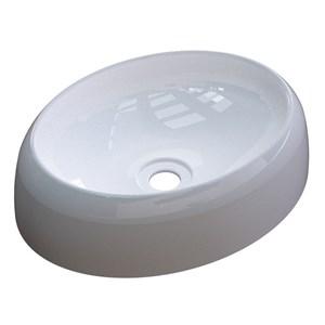 Cuba Pia de Apoio para Banheiro Oval Capri OV39W C08 Branco - Mpozenato