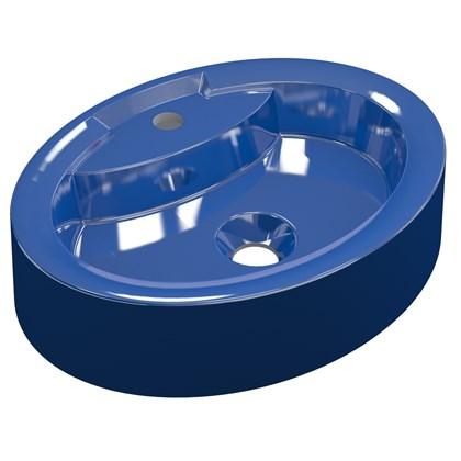 Cuba Pia de Apoio para Banheiro Oval Ox 43 C08 Azul Escuro - Mpozenato
