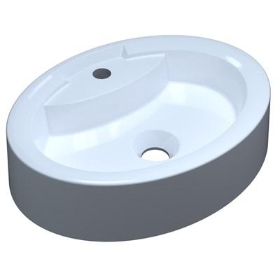 Cuba Pia de Apoio para Banheiro Oval Ox 43 C08 Branco - Mpozenato