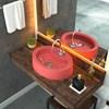 Cuba Pia de Apoio para Banheiro Oval Ox 43 C08 Rosa - Mpozenato