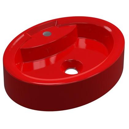 Cuba Pia de Apoio para Banheiro Oval Ox 43 C08 Vermelho - Mpozenato