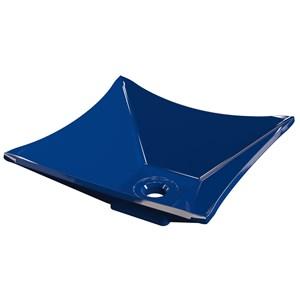 Cuba Pia de Apoio para Banheiro Quadrada Luxo 30 C08 Azul Escuro - Mpozenato
