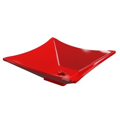 Cuba Pia de Apoio para Banheiro Quadrada Luxo 34 C08 Vermelho - Mpozenato