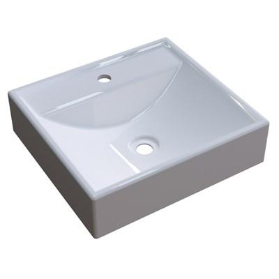 Cuba Pia De Apoio Para Banheiro Quadrada Ravena Q39 Branco C08 - Mpozenato
